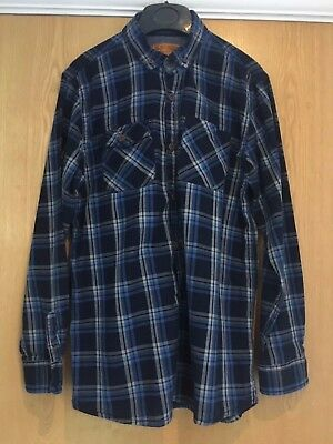 Boys NEXT Blue Checked Button Shirt 13 Years - Fantastic condition
