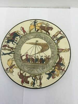 Royal Doulton Battle of Hastings  Bayeux Tapestry Plate D2873