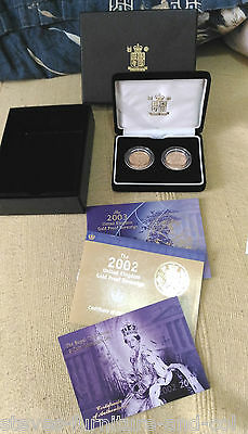 Ltd ed GOLD Sovereign set -A ROYAL CELEBRATION -A 2002 & A 2003 FULL SOVEREIGN