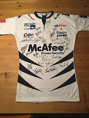 Sale Sharks Signed Rugby Shirt
