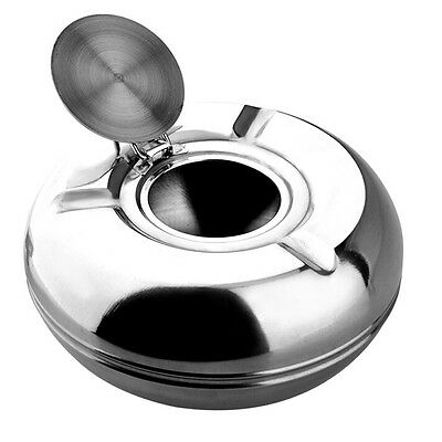 1Pcs SILVER MELAMINE WINDPROOF ASHTRAY WITH LID 5