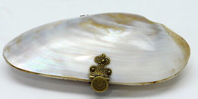 "Vintage Clam Shell Coin Purse 4"" NR"