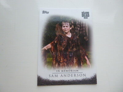 Walking Dead Season 6 In Memoriam Chase card Sam Anderson M-6 Target Exclusive