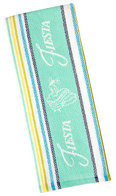 Fiesta Logo Kitchen Towel One Size Turquoise