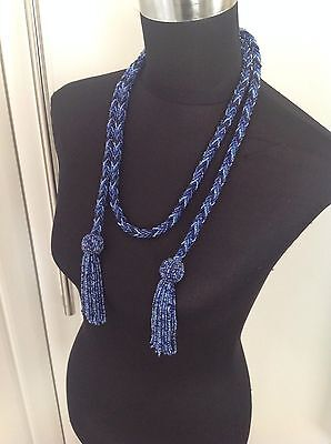Blue Glass Beads Necklace And Belt