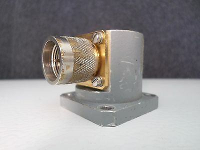 Waveline Waveguide to Coaxial Type N Male Adapter 8.2-12.4 GHz
