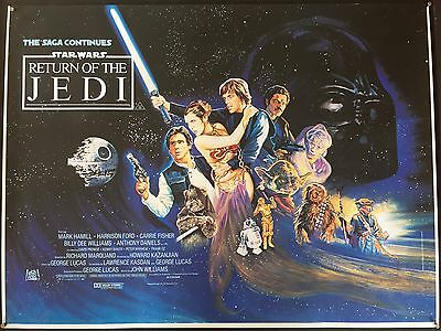Star Wars Return Of The Jedi - Rare Rolled Proof Uk Quad 1983 Hamill Ford Fisher