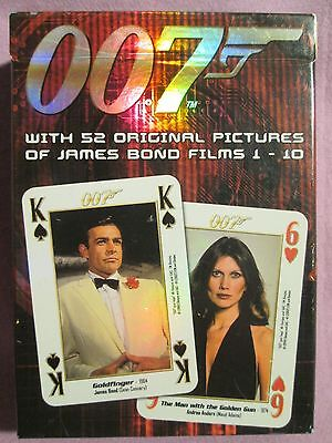 007 JAMES BOND MOVIE PLAYING CARDS - Films 1-10, 52 Original Pictures, Complete