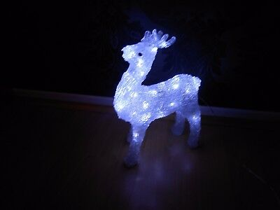 Crystal Effect Christmas Decoration Led Light Reindeer For Indoor Or Outdoor Use
