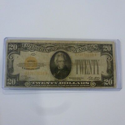 1928 $20 Gold Certificate Us Note Woods / Mellon
