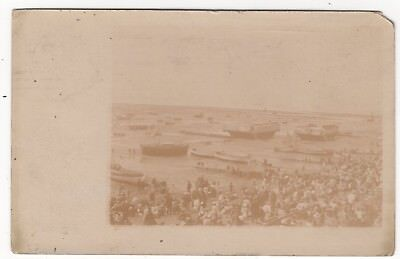 Southend On Sea The Beach On August Bank Holiday 1904 Old Real Photo Postcard