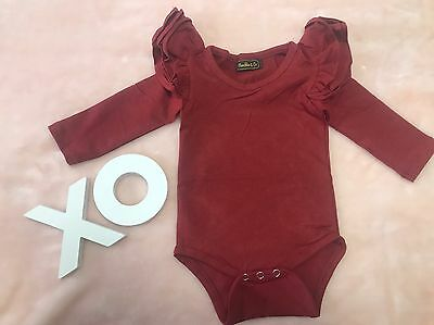 Long Sleeve Flutter Top Baby Girl Clothing SALE ALL STOCK MUST GO