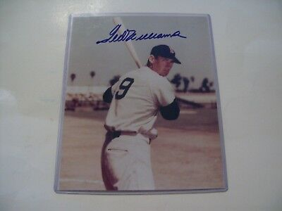 Ted Williams Signed Autograph Photo with COA 8X10