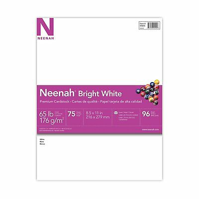 "Premium Cardstock Paper 8.5 x 11"" White School Writing Office Printer 75 SHEETS"