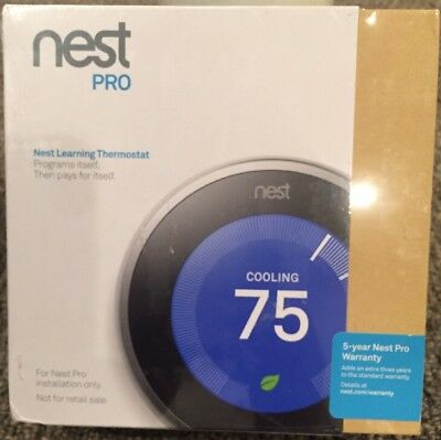 Nest Pro Learning Thermostat T3008US Wi-Fi 3rd Gen NEW No Reserve NR