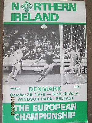 NORTHERN IRELAND v DENMARK          25.11.78     EC Qualifier