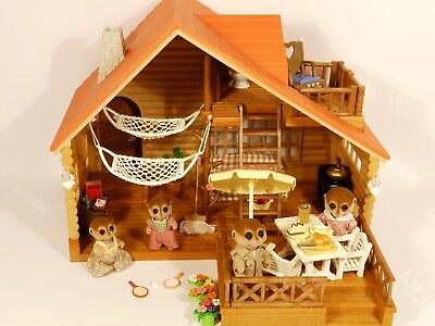 Sylvanian Families Log Cabin House -Furnished -Many Accessories +Meerkat  Family