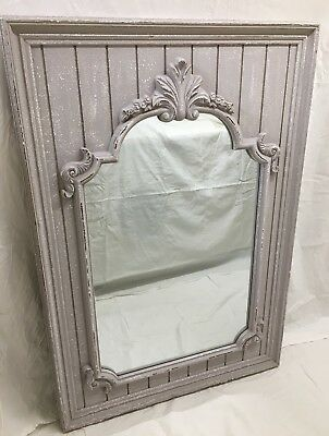 French style/ shabby chic large painted mirror
