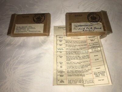 2 X Air Ministry WW2 Period Medal Boxes