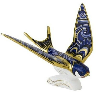 New Royal Crown Derby 2nd Quality Swallow Paperweight