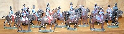 Napoleonic Wars Lead/Tin Flat Soldiers - Mixed French Chasseurs A Cheval 1