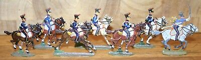 Napoleonic Wars Lead/Tin Flat Soldiers - Mixed French Chasseurs A Cheval 2