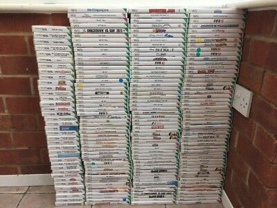 Nintendo Wii Bundle x 190 Games  - Good Condition / Job Lot #91