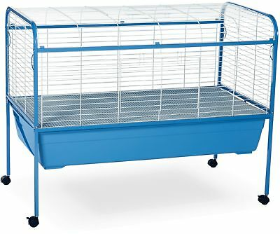 Small Animal Cage With Stand Blue And White Pet Supplies