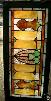 Very Fine Antique Arts & Crafts Stained Glass Window_Estate # 10   Great Price