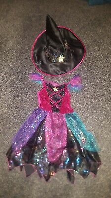 kids Halloween witch costume with hat age 3