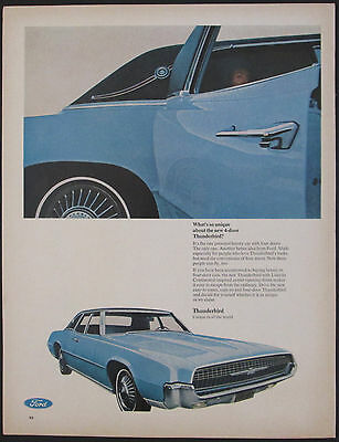 Ford Thunderbird 4 Door With Lincoln Style Doors 1967 Vintage Ad