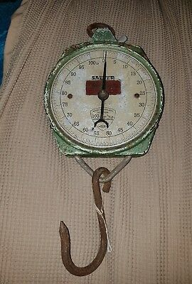 old set of salter 100lb hanging scales