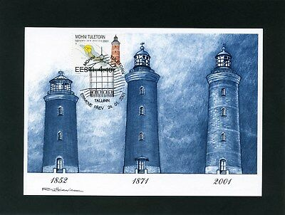 Estonia Lighthouse max cards x 4 2000-2002 special postmarks