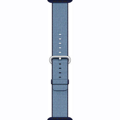Genuine Apple Watch Woven Nylon Band (38mm, Navy/Tahoe Blue)  MP222AM/A