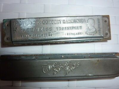 Vintage Triumph Harmonica & The Silver Bell C A Jeydel ? Germany (Lot 1J)