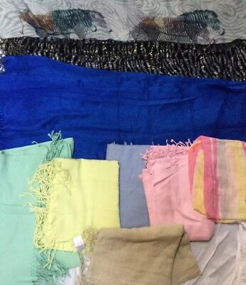 Job Lot Scarves very good condition (9 scarves)