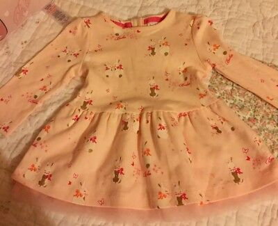 Ted Baker Baby Girls Bunny Dress, Pink, 3-6 Months NWOT