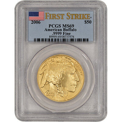 2006 American Gold Buffalo (1 oz) $50 - PCGS MS69 - First Strike