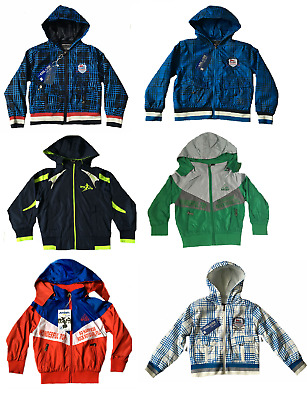 New Boys Light Summer Jacket With Hood, Size 4, 6, 8, 10 ,12 & 14  years