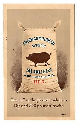 Freeman Milling Co*white Middlings*west Superior Wis*pig Brand*koerner & Hayes