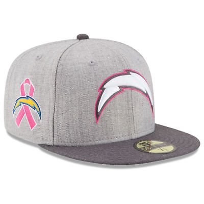 c7dcdee1c14 Los Angeles Chargers New Era NFL Breast Cancer Awareness 5950 Fitted Cap Hat  BCA