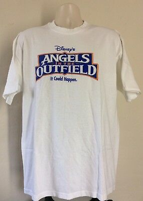 Vtg 1994 Angels In The Outfield Promo T-Shirt White XL 90s Baseball Kids Movie