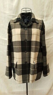 1990s Vintage Nautica Checked Tartan Coat Size UK 10