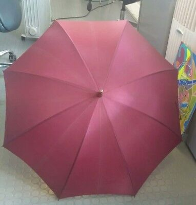 James Smith & Sons Vintage pencil Umbrella with Parrot handle wine 28inches