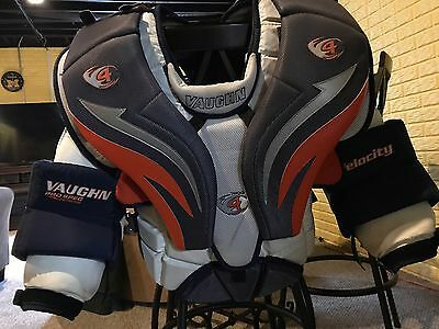 Vaughn 7600 Pro Chest pad Size small, used 1 mens league season