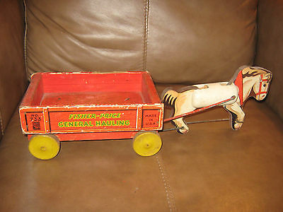 Fisher Price Rare General Hauling Wood Toy