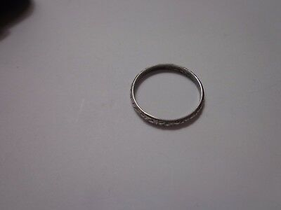 Antique Victorian Sterling Silver Wedding Band Ring In Box Size 6