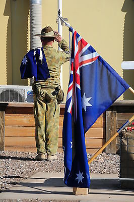 Fully Sewn Australian Flag 2yd, Made in Aust, Defence Force Quality, with Clips
