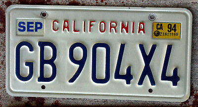 "Embossed ""California"" Lettering Style License Plate"