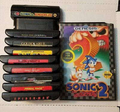 Big Vintage Lot of 10 Sega Genesis Video Games